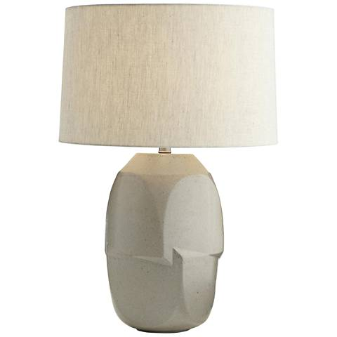 Arteriors Home Heath Oyster Gray Ceramic Table Lamp