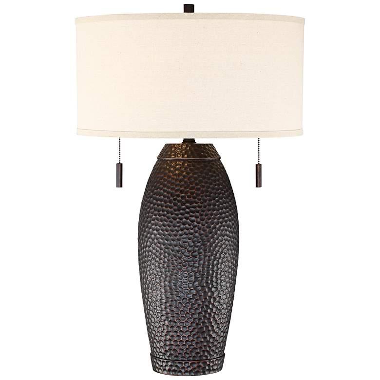 Noah Hammered Bronze Table Lamp