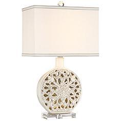 Possini Euro Cherie Ceramic LED Night Light Table Lamp