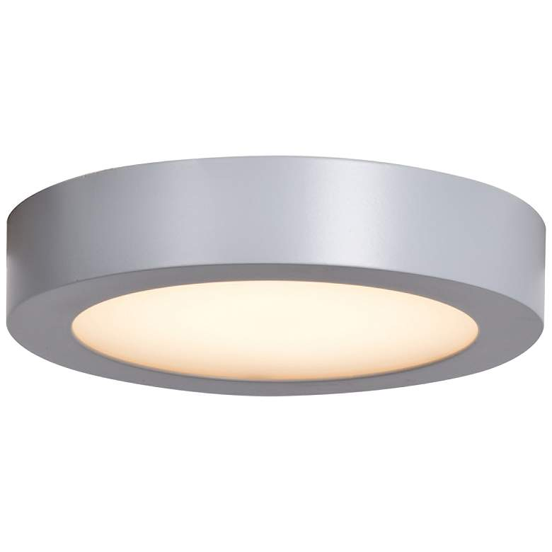 """Ulko Exterior 5 1/2"""" Wide Silver LED Outdoor Ceiling Light"""