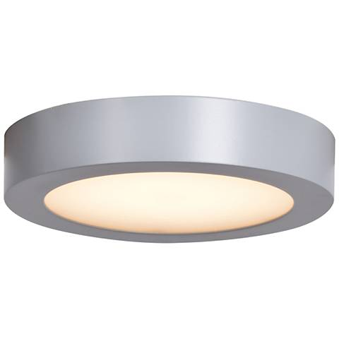 "Ulko Exterior 5 1/2"" Wide Silver LED Outdoor Ceiling Light"
