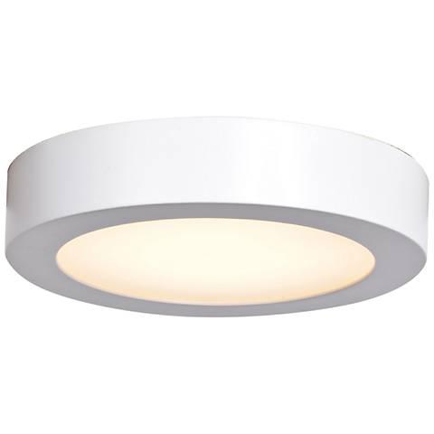 """Ulko Exterior 5 1/2"""" Wide White LED Outdoor Ceiling Light"""