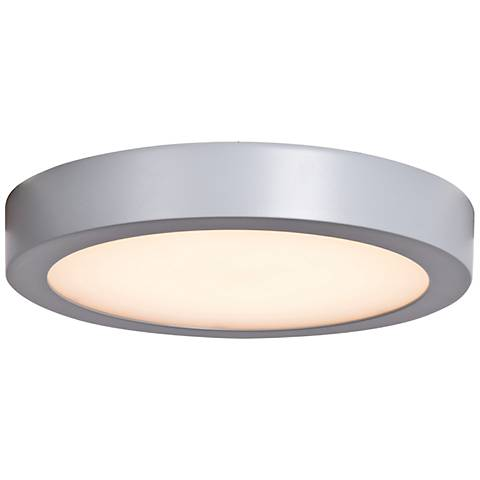 """Ulko Exterior 9"""" Wide Silver LED Outdoor Ceiling Light"""