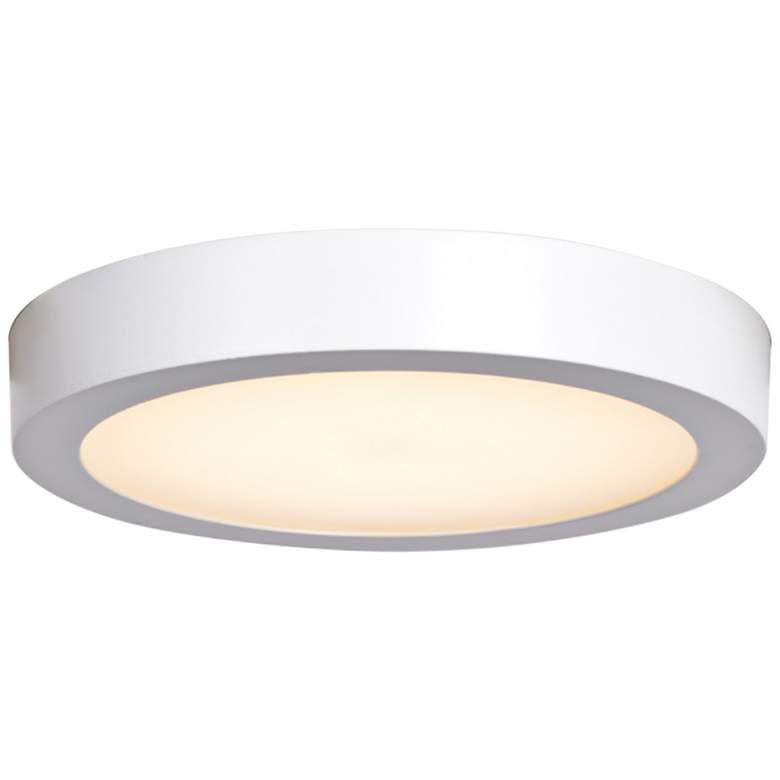 """Ulko Exterior 9"""" Wide White LED Outdoor Ceiling Light"""