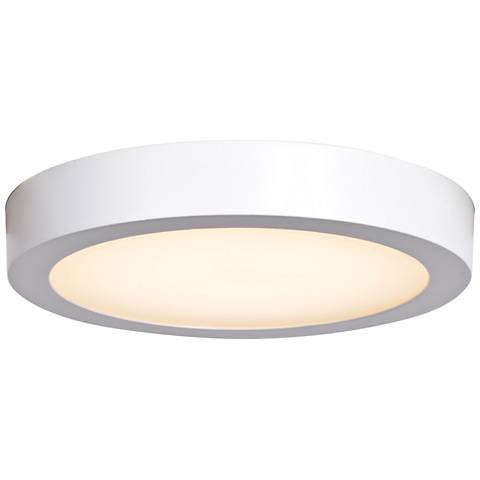 "Ulko Exterior 9"" Wide White LED Outdoor Ceiling Light"