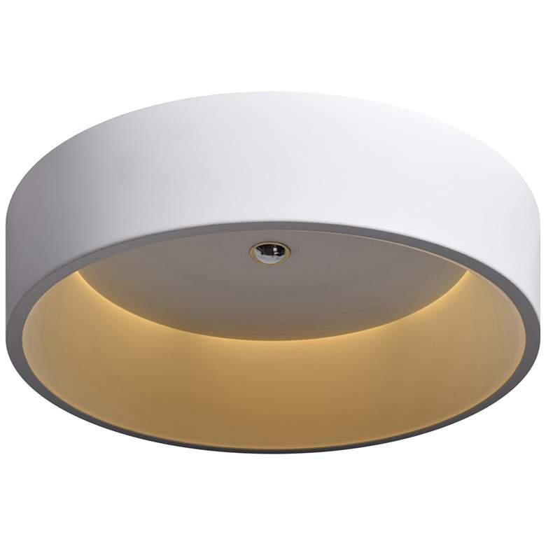 """Radiant 17 1/2"""" Wide White LED Ceiling Light"""