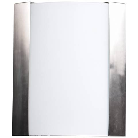 "West End 10"" High Brushed Steel LED Wall Sconce"