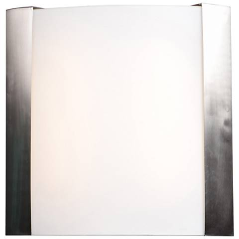 "West End 12 1/2"" High Brushed Steel LED Wall Sconce"