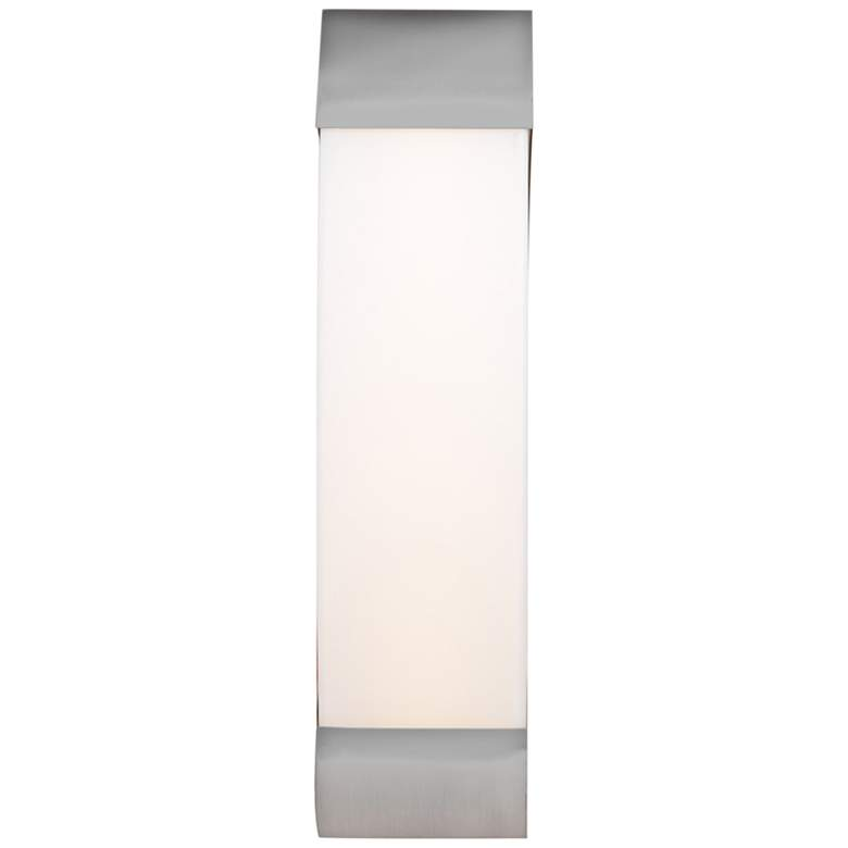 """West End 17"""" High Brushed Steel LED Wall Sconce"""