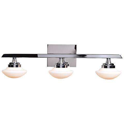 "Atomiser 25"" Wide Chrome 3-LED Bath Light"