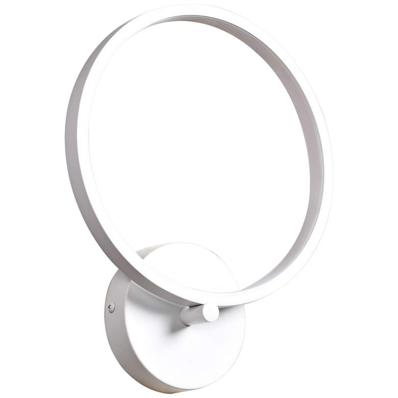 """Eternal 12 1/2"""" High White LED Wall Sconce"""