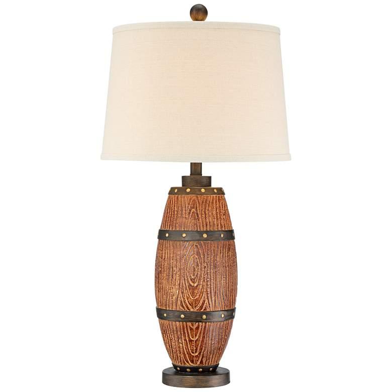 Grantham Faux Cask Table Lamp