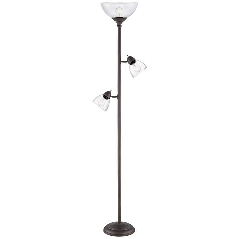 Riley Bronze 3-Light Tree Torchiere Floor Lamp