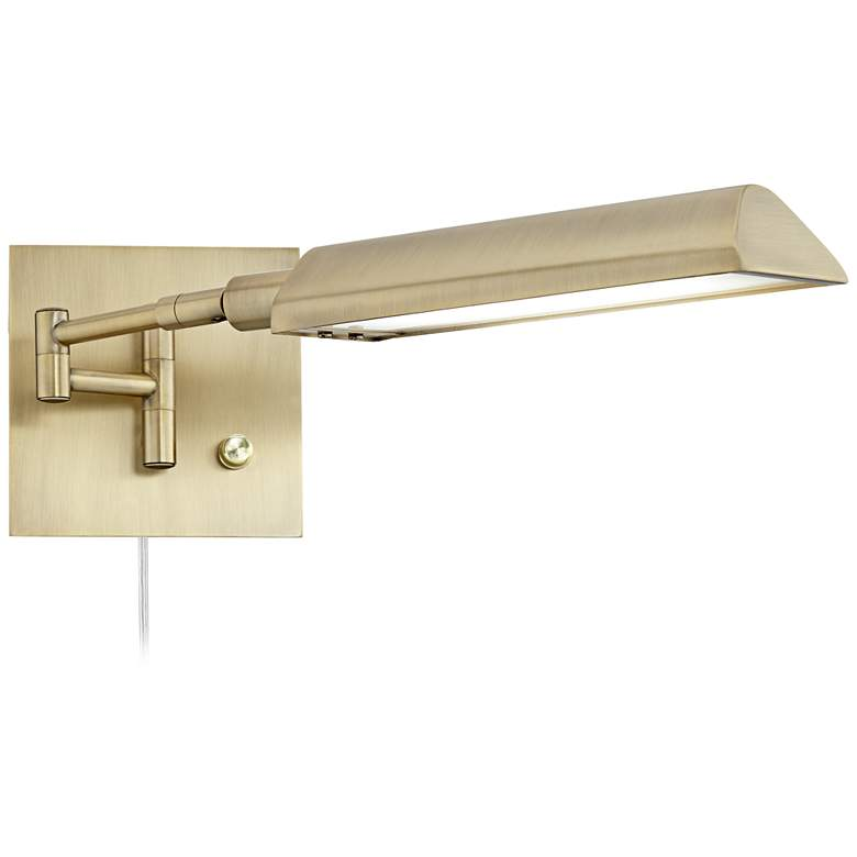 Jaxon Antique Brass Pharmacy LED Swing Arm Wall Lamp