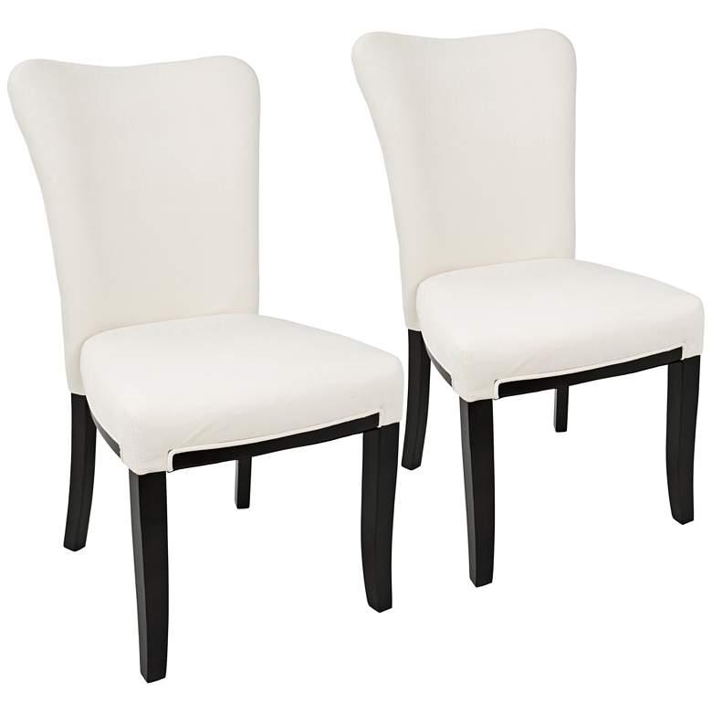 Olivia Cream Velvet Dining Chairs Set of 2