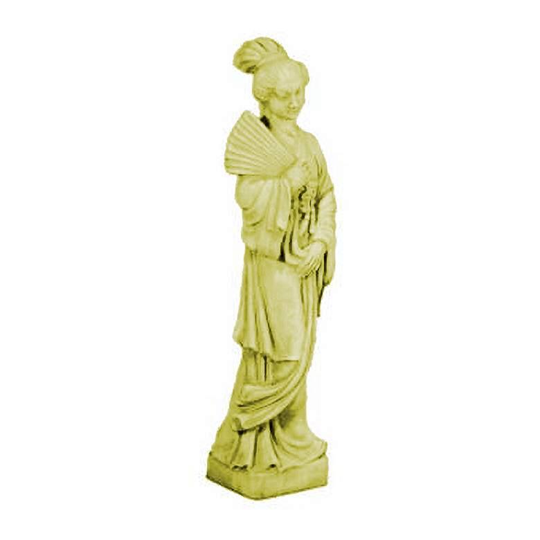 """Chinese Maiden 40"""" High Elban Stone Garden Statue"""
