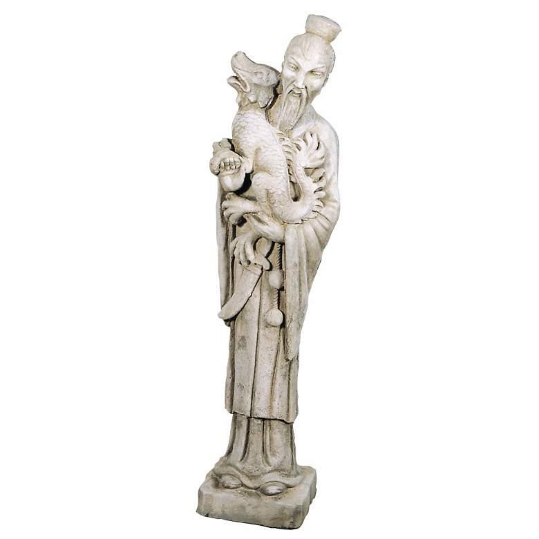 """Mandarin 40"""" High Elban Stone Garden Accent Statue"""
