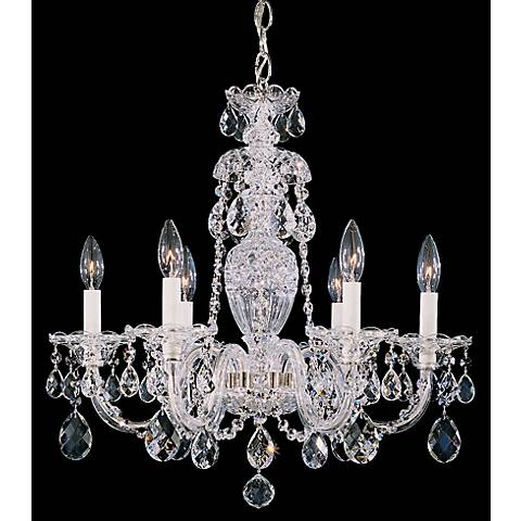"Schonbek Sterling 21"" Wide Heritage Crystal Chandelier"