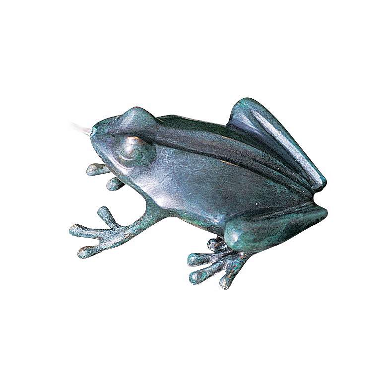 """Crazy Frog 6"""" High Cast Brass Water Spitter Fountain"""