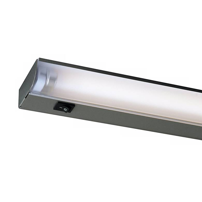 "Fluorescent 12"" Wide Silver Under Cabinet Light by Juno"