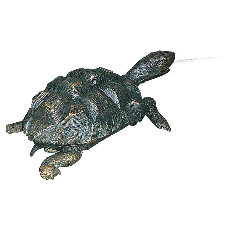 """Turtle 12"""" High Pond Spitter Cast Brass FountainAccent"""