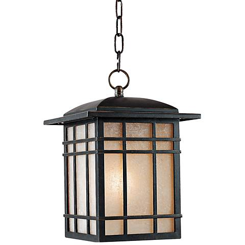 "Quoizel Hillcrest 13"" High Bronze Outdoor Hanging Light"