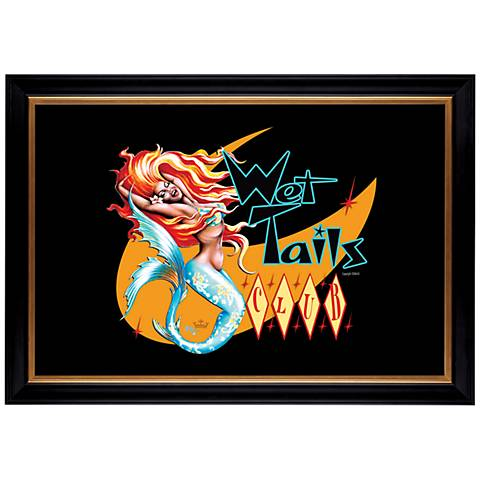"Wet Tails I Mermaid Giclee 41 3/8"" Wide Wall Art"