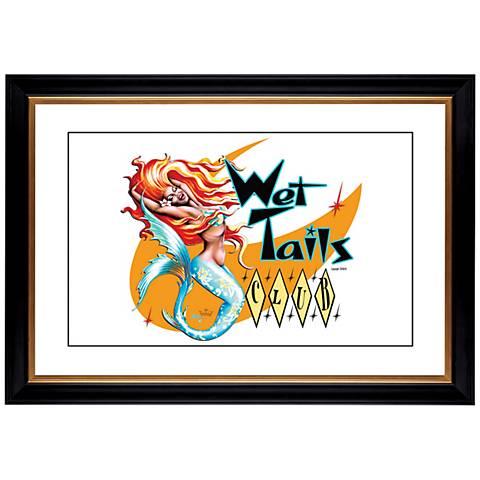 "Wet Tails II Mermaid Giclee 41 3/8"" High Wall Art"
