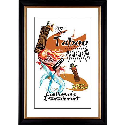 "Taboo Mermaid Giclee 41 3/8"" High Wall Art"