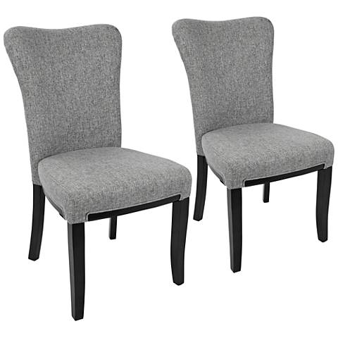 Olivia Gray Fabric Dining Chair Set of 2