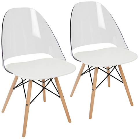 Tonic Natural and White Dining Chair Set of 2