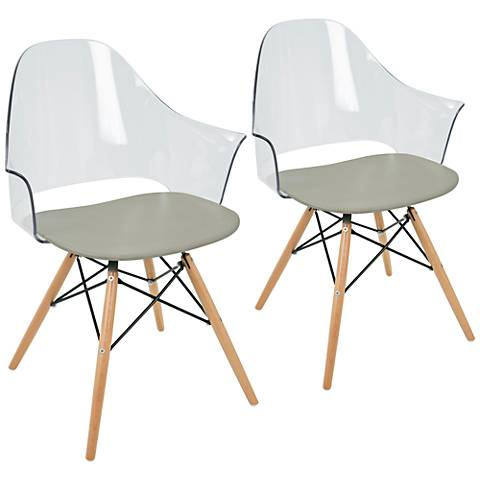Tonic Flair Natural and Gray Dining Chair Set of 2