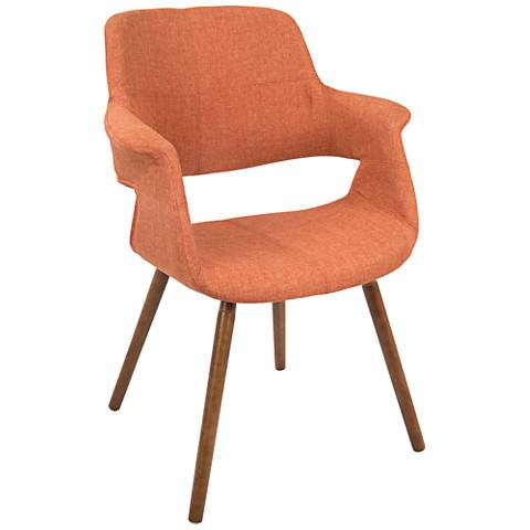 Vintage Flair Orange Fabric Dining Chair