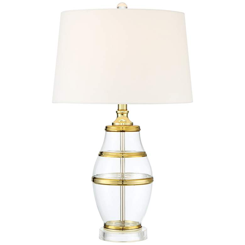 Angie Gold and Glass Table Lamp