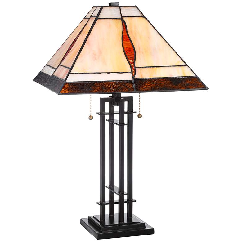 Robert Louis Tiffany Lewis Metal Accent Table Lamp