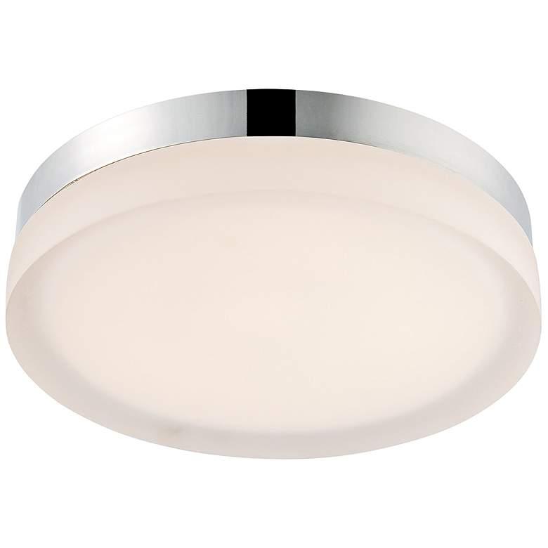 """dweLED Slice 9"""" Wide Chrome Round LED Ceiling Light"""