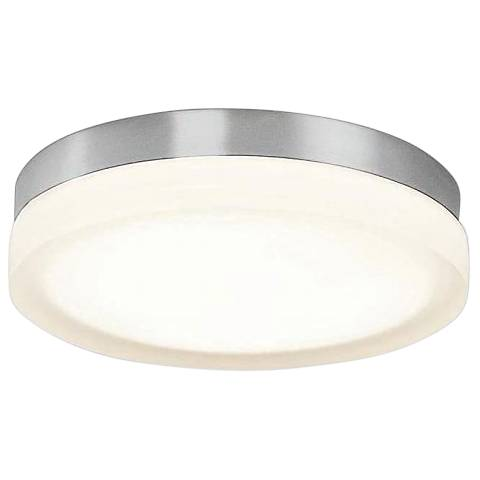 "dweLED Slice 11"" Wide Brushed Nickel Round LED Ceiling Light"