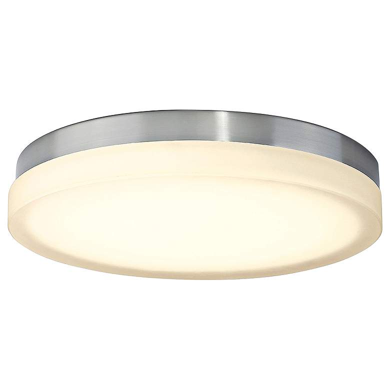 "dweLED Slice 15"" Wide Brushed Nickel Round LED Ceiling Light"
