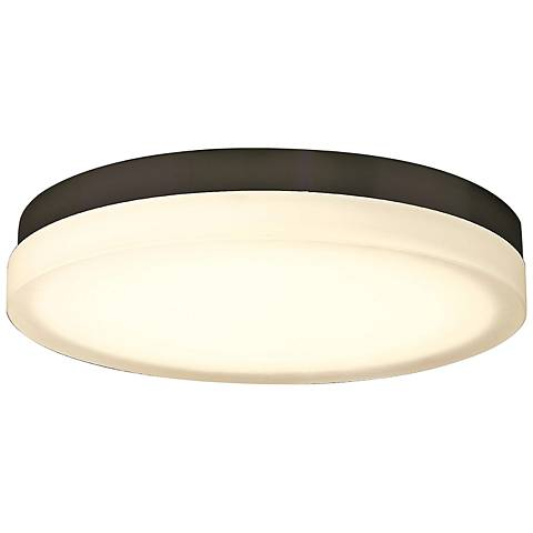 "dweLED Slice 15"" Wide Bronze Round LED Ceiling Light"