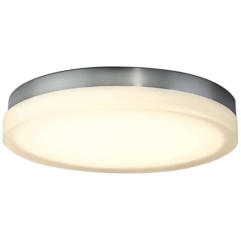 "dweLED Slice 15"" Wide Chrome Round LED Ceiling Light"
