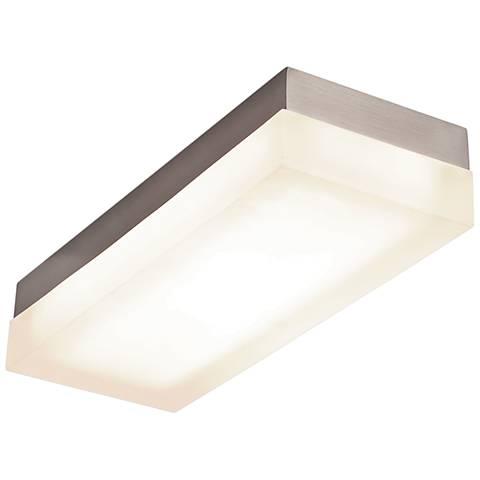 "Dice 14""W Brushed Nickel Rectangular LED Ceiling Light"