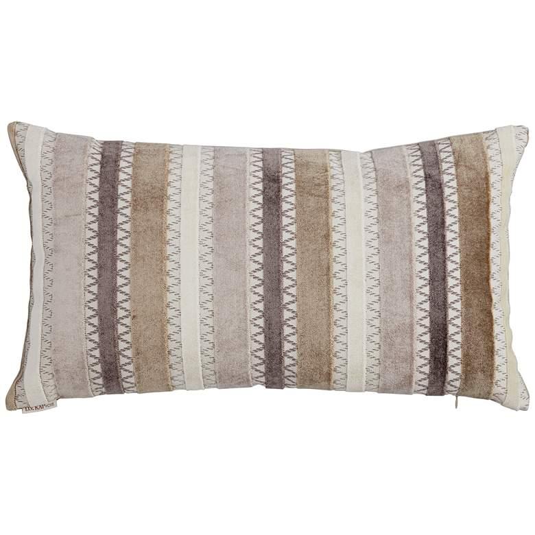 """Reece Decor Feather 24"""" x 14"""" Lumbar Decorative Pillow"""