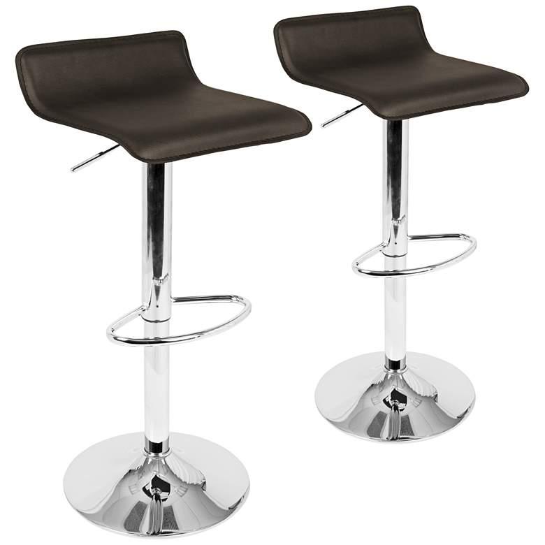 Pleasing Ale Brown Adjustable Swivel Bar Stools Set Of 2 Uwap Interior Chair Design Uwaporg