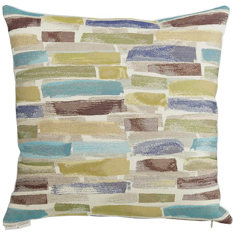 """Paint Strokes 18"""" Square Throw Pillow"""