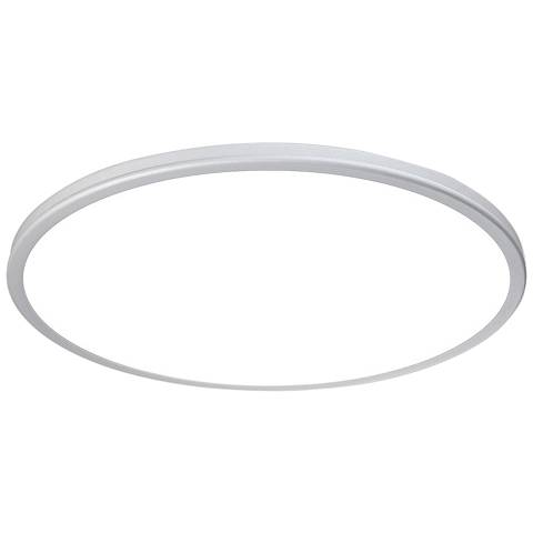 "dweLED Geos 22"" Wide Titanium LED Ceiling Light"