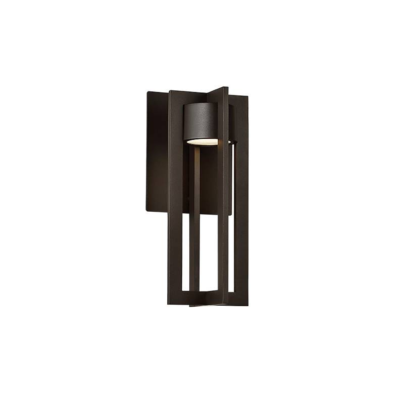 "dweLED Chamber 12"" High Bronze LED Outdoor Wall Light"