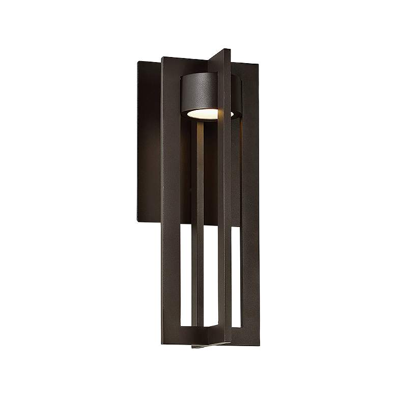 """dweLED Chamber 16"""" High Bronze LED Outdoor Wall Light"""