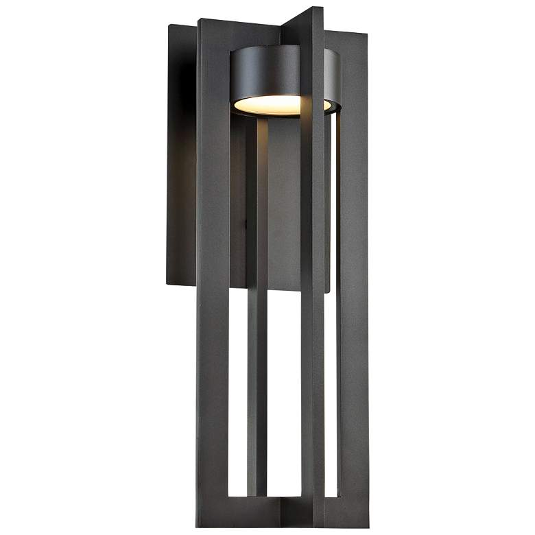 "dweLED Chamber 20"" High Bronze LED Outdoor Wall"