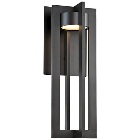 "dweLED Chamber 20"" High Bronze LED Outdoor Wall Light"