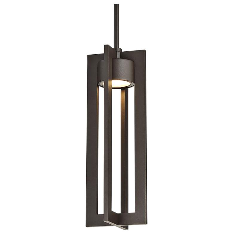 """dweLED Chamber 16"""" High Bronze LED Outdoor Hanging Light"""